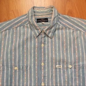 Vtg Guess Georges Marciano Demin Color Dart Shirt